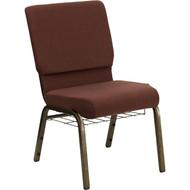 Flash Furniture Hercules Series 18.5 Brown Fabric Chair with Book Basket - FD-CH02185-GV-10355-BAS-GG