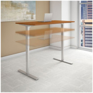 "Bush Business Furniture Series C 400 Height Adjustable Table Desk 72"" x 24"" Natural Cherry - HAT7224NCK"