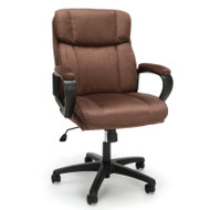 OFM Essentials Plush Mid Back Microfiber Office Chair Brown - ESS-3082-BRN