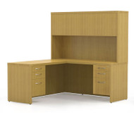 Mayline Aberdeen Executive L-Shaped Desk Work Station Maple - AT32-LMA