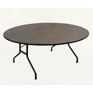 Correll High-Pressure Top Heavy Duty Folding Table Standard 29 Fixed Height Round 48- CF48PX