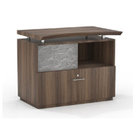 """Mayline Sterling Series Lateral File with Sliding Acrylic Door 36"""" Textured Brown Sugar Finish - STEC-TBS"""