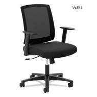 Basyx by HON Mid-Back Task Chair with Arms - VL511