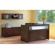 Mayline Aberdeen Reception Desk L-Shaped Package Mocha - AT37
