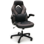 OFM Essentials by OFM Racing Style Leather Gaming Chair Green - ESS-3085-GRY