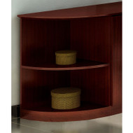 Mayline Medina Laminate Bookcase 2-Shelf Quarter Round Mahogany - MVBQ2-LMH