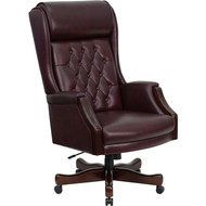 Flash Furniture High Back Traditional Tufted Burgundy Leather Executive Office Chai - -KC-C696TG-GG