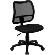 Flash Furniture Mid Back Mesh Task Chair with Black Fabric Seat - WL-A277-BK-GG