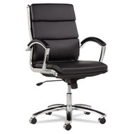 Alera Neratoli Mid-Back Soft-Touch Leather Chair Black - NR4219