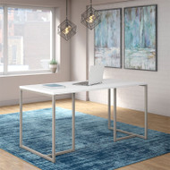 "Kathy Ireland by Bush Method Collection 60""W Table Desk White - KI70201K"