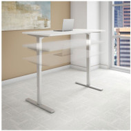 "Bush Business Furniture Series C 400 Height Adjustable Table Desk 72"" x 24"" White - HAT7224WHK"
