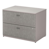 "Bush Business Furniture Series A Lateral File Cabinet in Pewter 36""W Assembled - WC14554PSU"