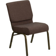 Flash Furniture Hercules Series 21 Extra Wide Brown Fabric Chair - FD-CH0221-4-GV-S0819-GG