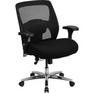 Flash Furniture Hercules 24/7 Multi-Shift, Big & Tall 500 lb Capacity Black Mesh-Back Executive Swivel Chair - GO-99-3-GG
