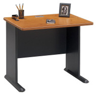 "Bush Business Furniture Series A Desk 36"" Natural Cherry  - WC57436"