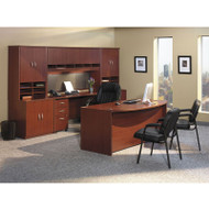 Bush Business Furniture Series C Package Executive Bowfront Desk Mahogany - MAHPackageA