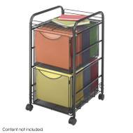 Safco Onyx Mesh File Cart with 2 File Drawers - 5212BL