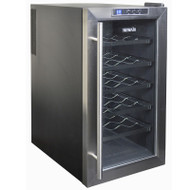 NewAir 18 Bottle Thermoelectric Wine Cooler Stainless Steel & Black - AW-181E