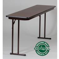Correll Off-Set Leg Folding Seminar Table 18 x 60 - ST1860PX