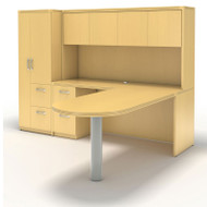 Mayline Aberdeen Executive L-Shaped Peninsula Desk Package Maple - AT22-LMA