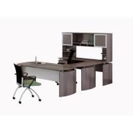 "Mayline Medina Laminate Executive 63"" Desk U-Shaped Package Left - MNT33-LGS"