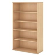 """Bush Business Furniture Bookcase 66""""H 5-Shelf Natural Maple - BK6636AC"""