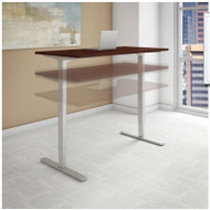 "Bush Business Furniture Series C 400  Height Adjustable Table Desk 48"" x 24"" Harvest Cherry - HAT4824CSK"
