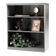 Mayline Aberdeen Bookcase 3-Shelf Gray Steel - AB3S36-LGS