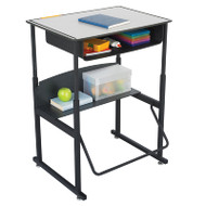 Safco Alphabetter Box Desk with Book Box - 1204GR