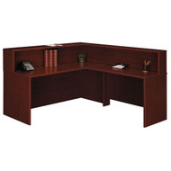Bush Business Furniture Series C Reception Desk L-Shaped, No Pedestals Mahogany - MAHPackageF