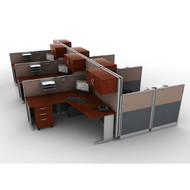 MONTHLY SPECIAL! Bush Office-in-an-Hour L-Shaped Desk Workstation Package - HRPackageC