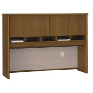 "Bush Business Furniture Series C Desk Hutch 4-Door 60"" Warm Oak - WC67562K"