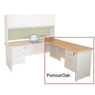 "Marvel Desk Return, Single Pedestal, Non-handed 42"" Pumice/Oak - PRR4224SP_UTOK"