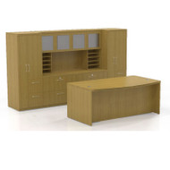 Mayline Aberdeen Executive Desk Package Maple - AT9-LMA