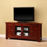 "Walker Edison Carver 52"" TV Console, Walnut Brown - W52C4DOWB"