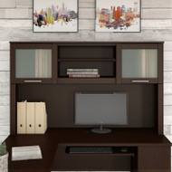 """Bush Somerset Collection Hutch for L-Shaped Desk 60"""" Mocha Cherry - WC81831"""