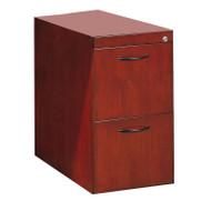 Mayline Corsica or Napoli Veneer Pedestal File for Desk 2-Drawer Sierra Cherry, Assembled - CFFD-CRY