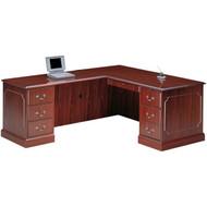 "HON 94000 Series L Shaped Desk Workstation with Left Return 66"" x 78"" - HONPackageA"