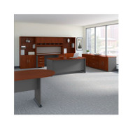 Bush Business Furniture Series C Executive Office with Storage and Conference Table Hansen Cherry -  SRC100HCSU