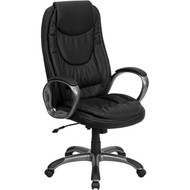 Flash Furniture High Back Black Leather Executive Office Chair - CH-CX0068H04-GG