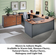 Bush Business Furniture Series C Package Executive U-Shaped Bowfront Desk - SERIESC3