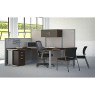 Bush Furniture Office-in-an-Hour U-Shaped Desk Workstation Package Mocha - WC36896-03STGK