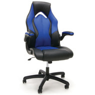 OFM Essentials Racing Style Leather Gaming Chair Blue - ESS-3086-BLU