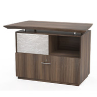 """Mayline Sterling Series Lateral File with Sliding Acrylic Door for Reception 36"""", Textured Brown Sugar Finish - STERC-TBS"""
