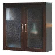 Mayline Aberdeen Glass Display Cabinet Mocha - AGDC