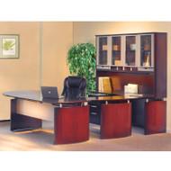 "Mayline Napoli Veneer Series Suite 32 - Executive Workstation 72"" U-Shaped Left Sierra Cherry - NT32-CRY"