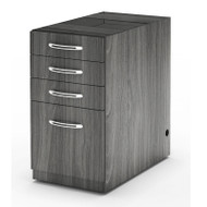 Mayline Aberdeen Pedestal File Assembled for Desk B/B/B/F Gray Steel - APBBF26-LGS