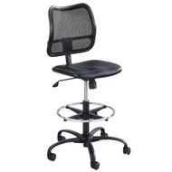 Safco Vue Mesh Extended-Height Chair Black Vinyl - 3395BV