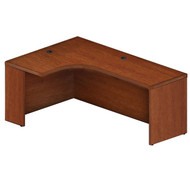 "Mayline Aberdeen Extended Corner Desk Table 72"" Left Cherry Finish - AEC72L-LCR"