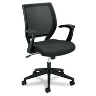 Basyx Mid-Back Mesh Work Chair with Fixed Arms - VL521VA10